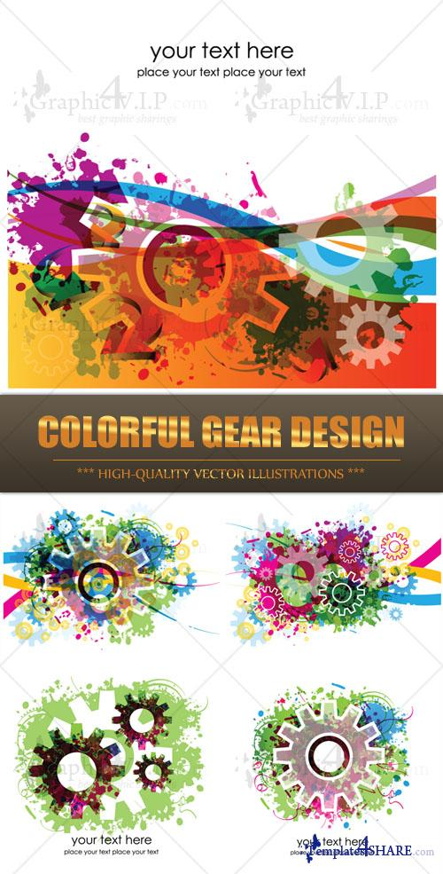 Colorful Gear Design - Stock Vectors