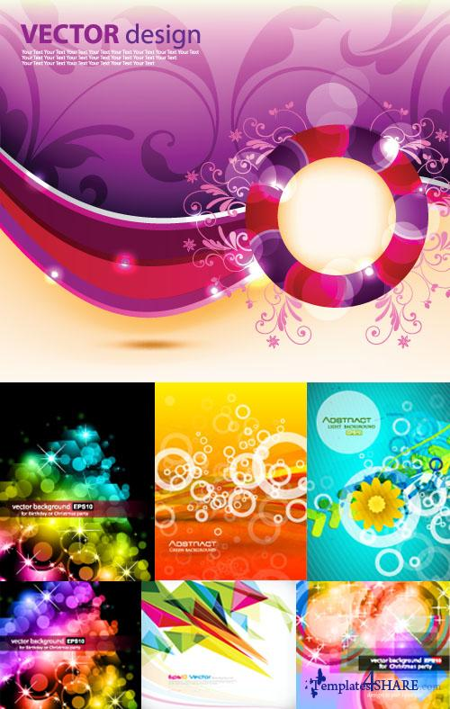 Colorful Abstract Vector Backgrounds 50