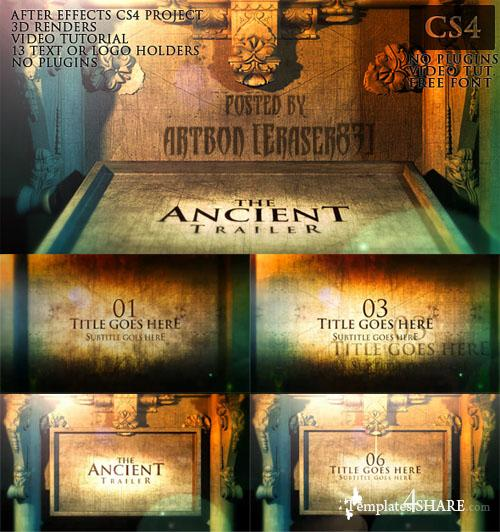 The Ancient Trailer - Projects for After Effects (Videohive)