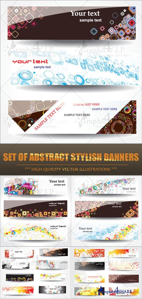 Set of Abstract Stylish Banners - Stock Vectors