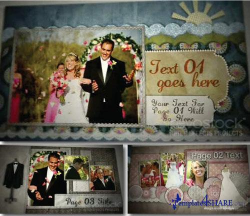 Wedding Scrapbook - Projects for After Effects (Revostock)