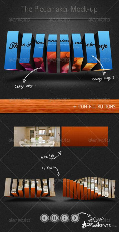 Piecemaker Mock-up - PSD Templates (GraphicRiver)