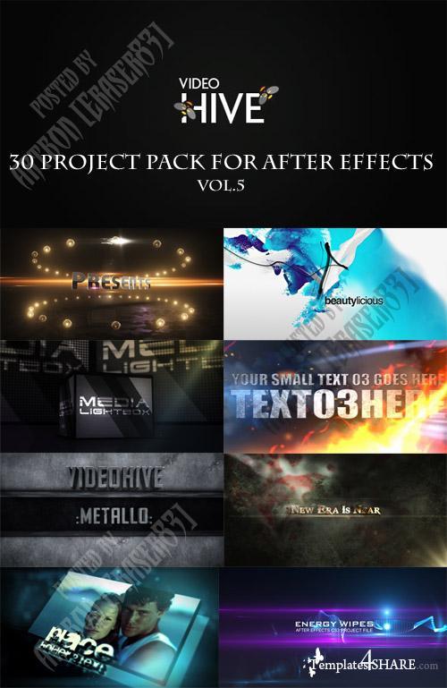 30 Project Pack for After Effects Vol.5 (Videohive)