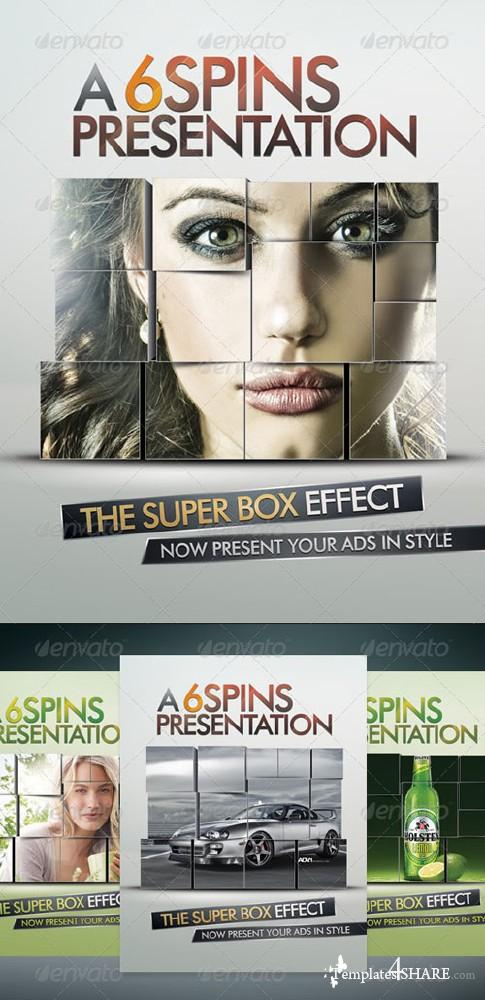 Ad and Party Flyer Template With Super Box Effect (GraphicRiver)