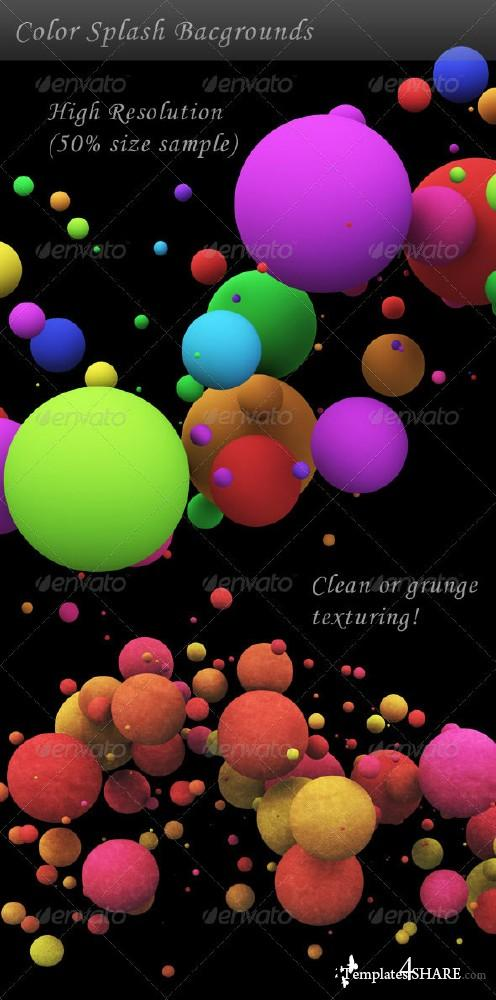 Color Splash Background - PSD Template (GraphicRiver)