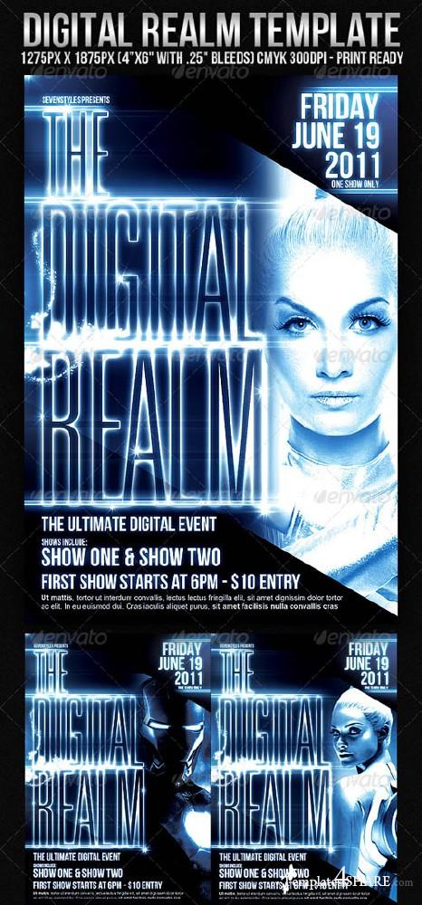 DigitalRealm Flyer Template (GraphicRiver)
