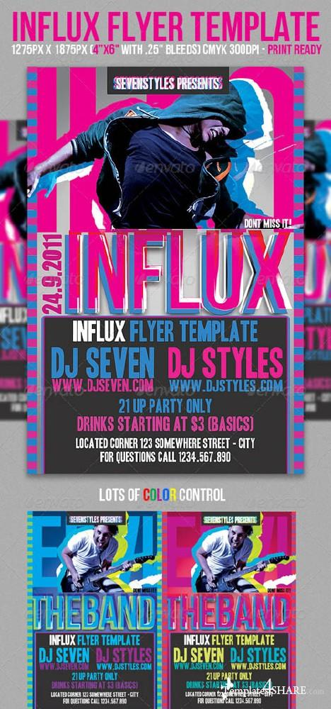 Influx Flyer Template (GraphicRiver)