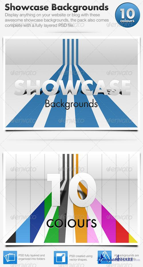3D Showcase Line Backgrounds (GraphicRiver)