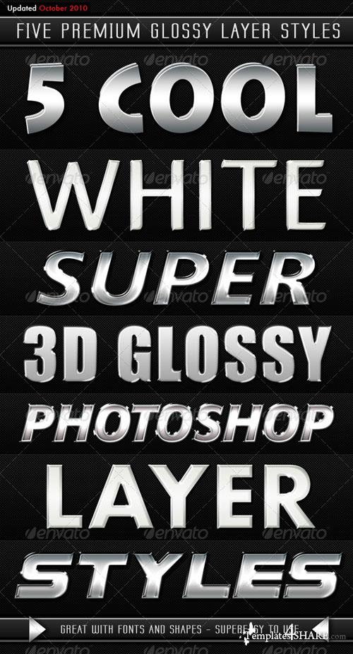White Modern 3D Glossy Layer Styles (GraphicRiver)