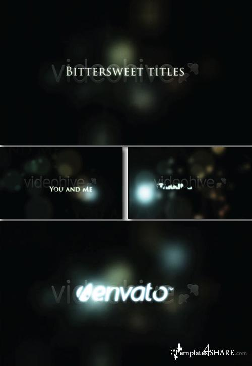 Bittersweet Titles - Project for After Effects (Videohive)