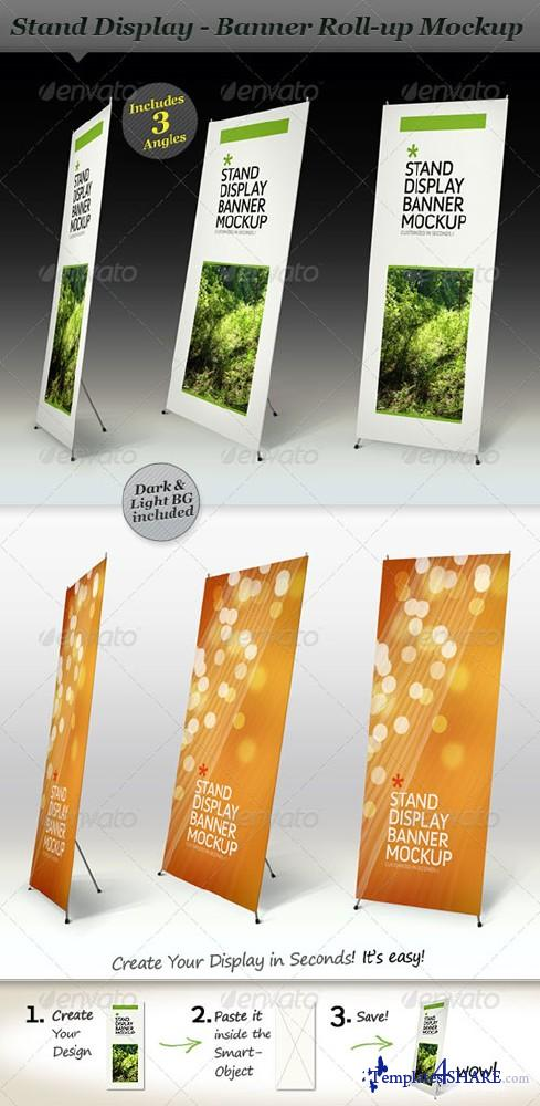Stand Display Mockup - Roll-up Smart Template (GraphicRiver)