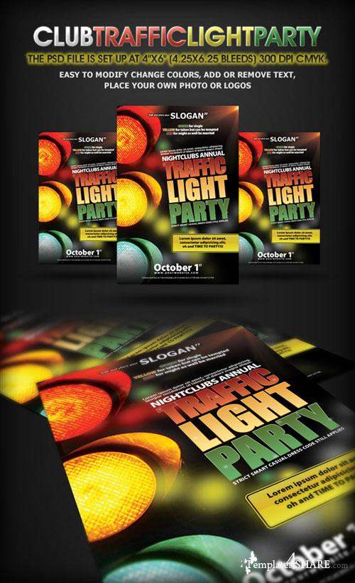 Traffic Light Party Nightclub Flyer (GraphicRiver)