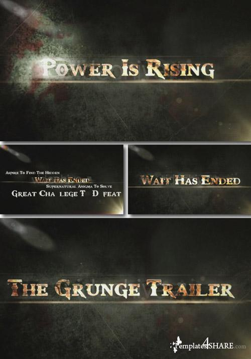 The Grunge Trailer - Project for After Effects (Videohive)
