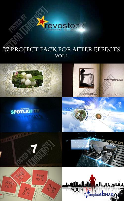 27 Project Pack for After Effects Vol.1 (Revostock)