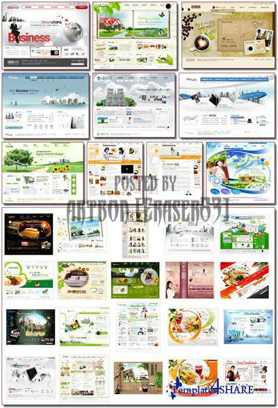 South Korean Web Sites PSD Templates