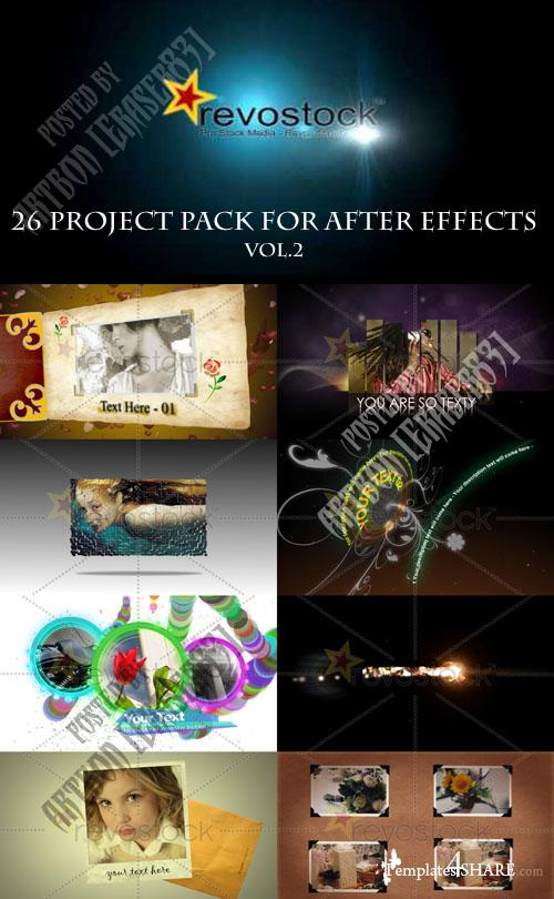 26 Project Pack for After Effects Vol.2 (Revostock)