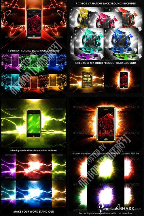 GraphicRiver Product Display Backgrounds (4 Packs)