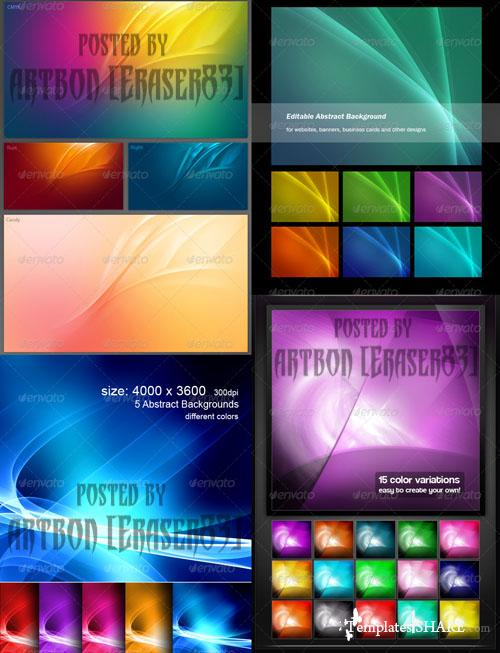 GraphicRiver Colorful Abstract Backgrounds Pack
