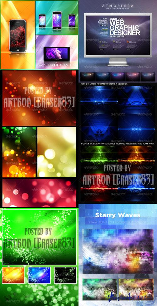 GraphicRiver Colorful Abstract Backgrounds Pack 2