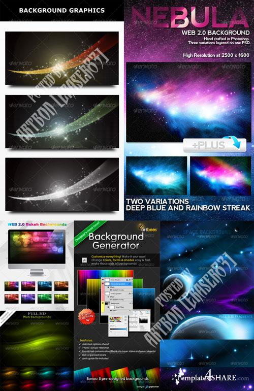 GraphicRiver Colorful Abstract Backgrounds Pack 4