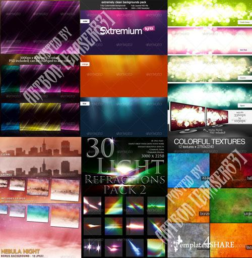 GraphicRiver Colorful Abstract Backgrounds Pack 5