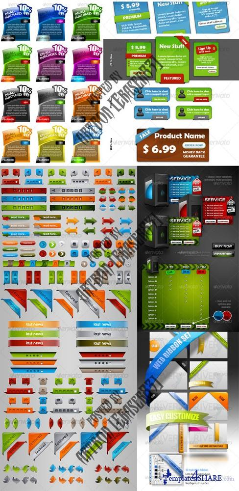 GraphicRiver Professional Web Elements Pack 3