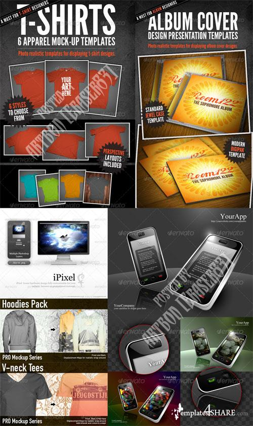 GraphicRiver Fashion Items Mockups and Electronic Object Pack