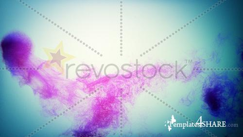 Pink Ink - Footage for After Effects (Revostock)
