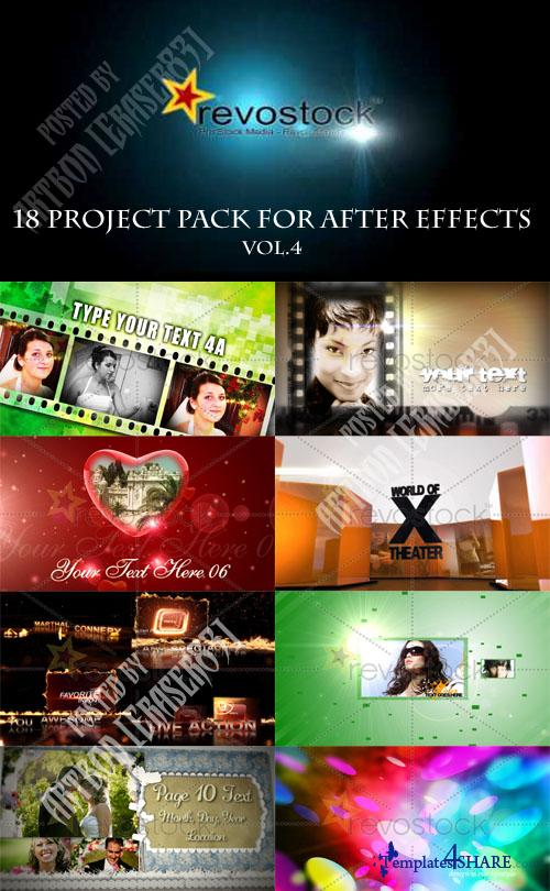 18 Project Pack for After Effects Vol.4 (Revostock)