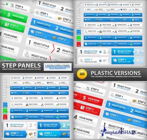 GraphicRiver Step Process Panels Mega Set </div>