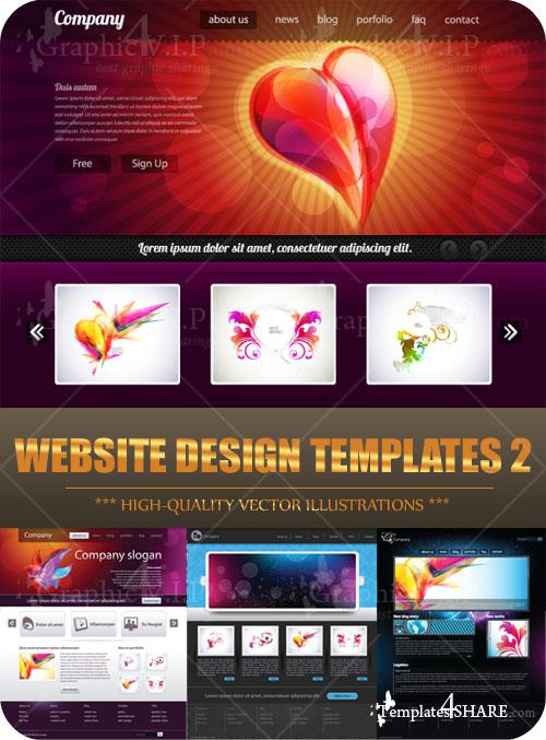 Website Design Templates 2 - Stock Vectors