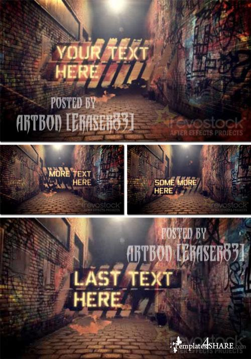 Graffiti Alley - Project for After Effects (Revostock)
