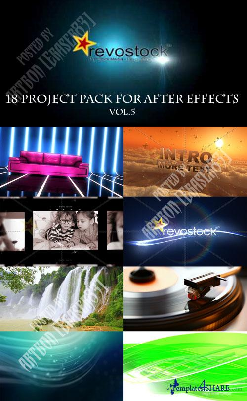 18 Project Pack for After Effects Vol.5 (Revostock)