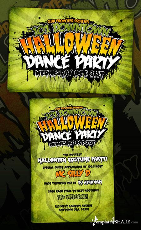GraphicRiver Horror Halloween Grungy Graphic Flyer