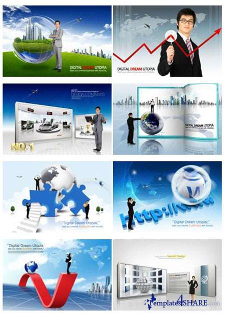 PSD Source Gallery - Business & Technology (Volume 3)