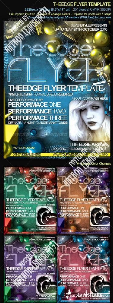 GraphicRiver TheEdge Flyer Poster Template