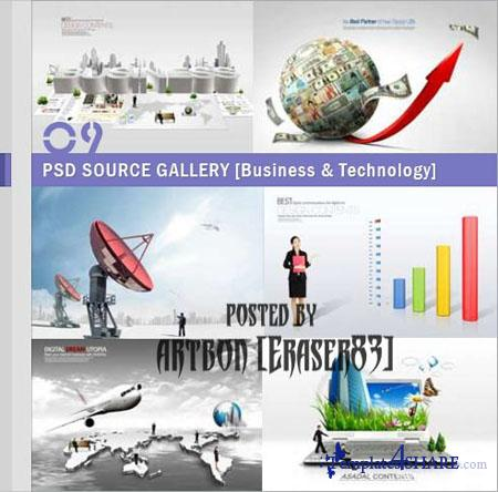 PSD Source Gallery - Business & Technology (Volume 9)
