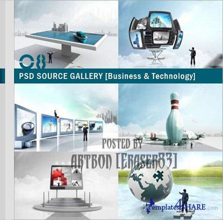 PSD Source Gallery - Business & Technology (Volume 8)