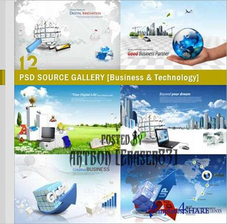 PSD Source Gallery - Business & Technology (Volume 12)