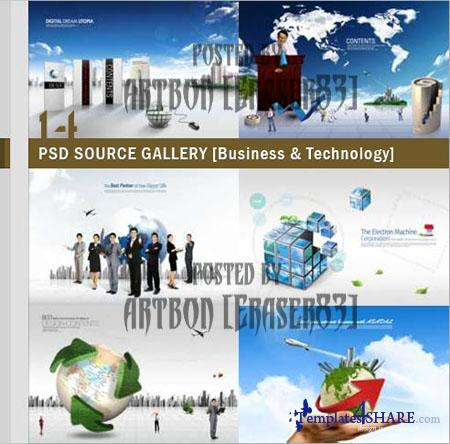 PSD Source Gallery - Business & Technology (Volume 14)