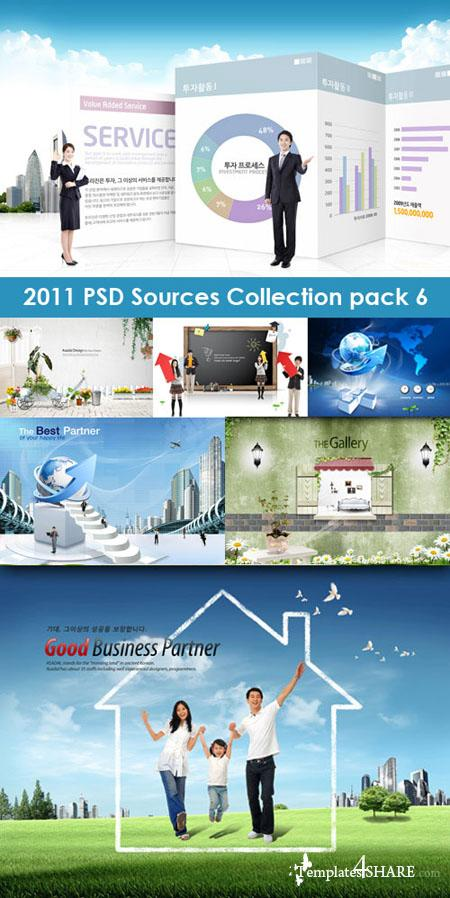 2011 PSD Sources Collection (Pack 6)