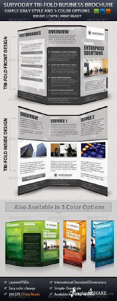 GraphicRiver Corporate Tri-Fold Brochure