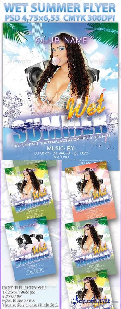 GraphicRiver Wet Summer Flyer