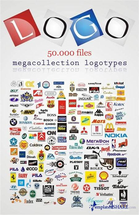 50.000 Commercial Logo - Vector Collection