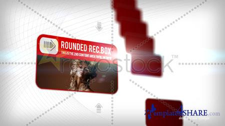 Rounded Rectangle Boxes - Project for After Effects (Revostock)