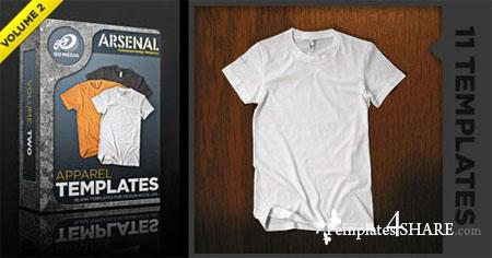 Go Media's Arsenal: Shirt Mockup Templates. Volume 2 (PSD)