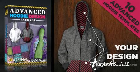 Go Media's Arsenal: Advanced Hoodie Templates Package (PSD)