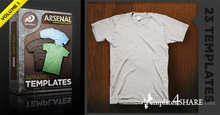 Go Media's Arsenal: Shirt Mockup Templates. Volume 1 (PSD)