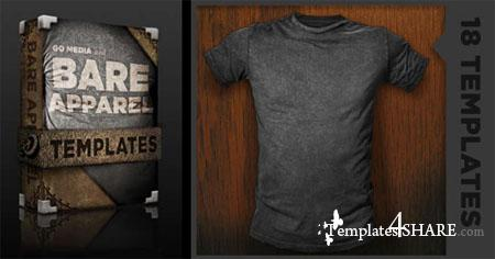 Go Media's Arsenal: Distressed Shirt Mockup Templates (PSD)