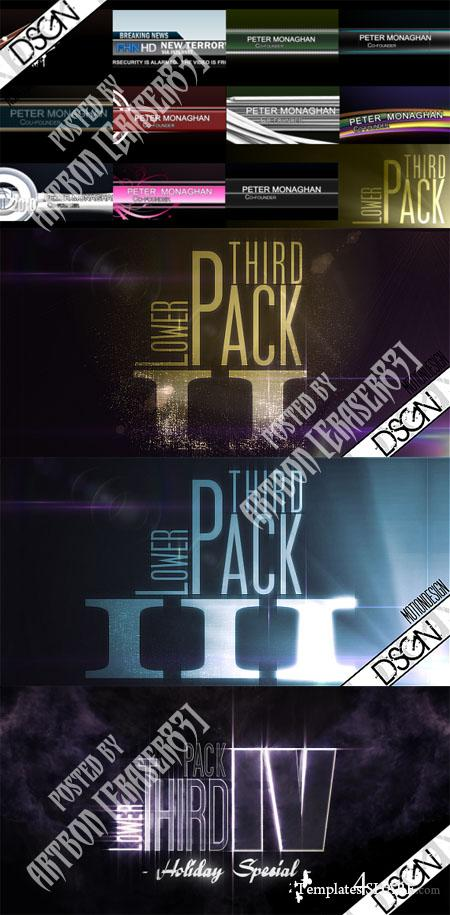Videohive Projects - Lower Third Packs Collection